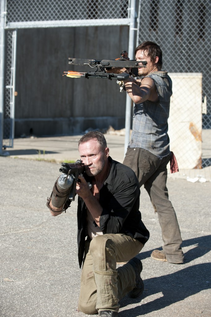 Daryl Dixon (Norman Reedus) and Merle Dixon (Michael Rooker) - The Walking Dead - Season 3, Episode 11 - Photo Credit: Gene Page/AMC