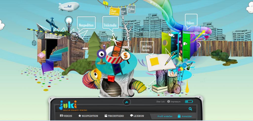 Screenshot Startseite www.juki.de