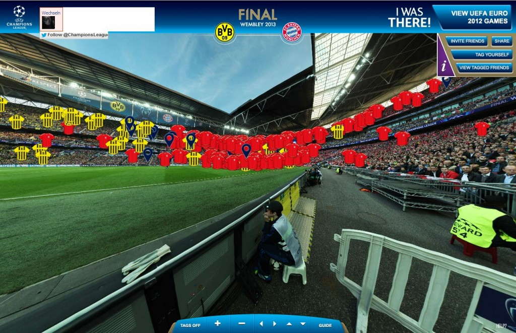 Screenshot I WAS THERE, http://en.iwasthere.uefa.com/ , Balljunge