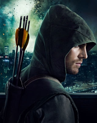 Oliver Queen alias Arrow played by Stephen Amell in Arrow (c) VOX/Warner Bros. International Television