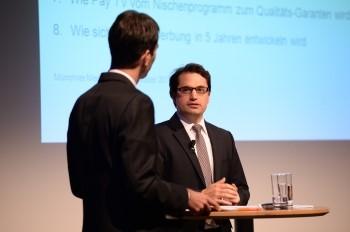 Christian Heinkele im Gespräch mit Moderator Klaus Winkler (c) Medientage München