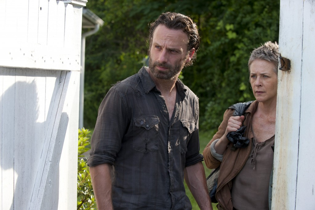 Rick Grimes (Andrew Lincoln) and Carol (Melissa Suzanne McBride) - The Walking Dead _ Season 4, Episode 4 - Photo Credit: Gene Page/AMC