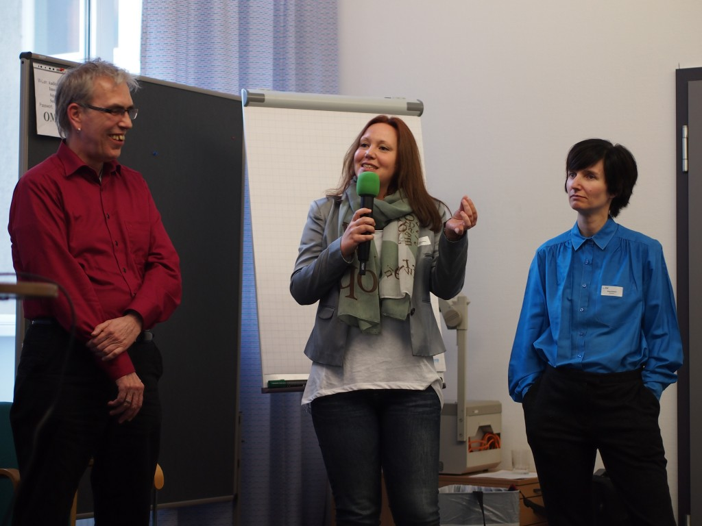 v.li. Dr. phil. habil. Gerd Hallenberger, Tanja Witting, Sonja Eismann