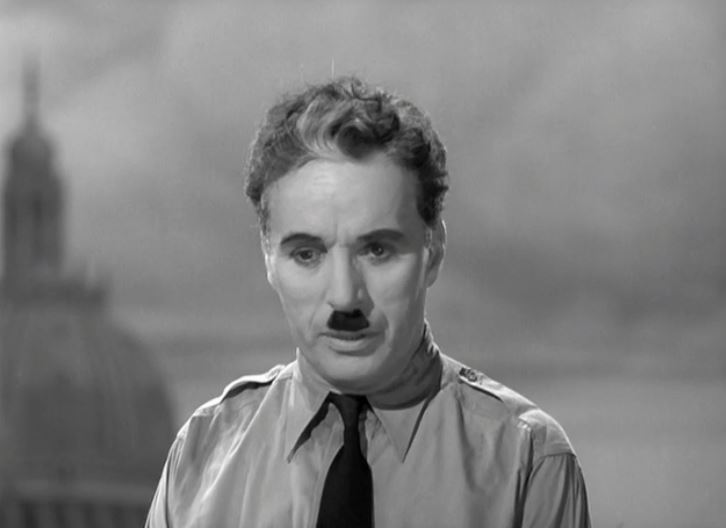 "Screenshot Charlie Chaplin in ""The Great Dictator"" 1940"