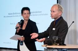 Miriam Janke und Prof. Dr. Jens Förster, Sommerforum Medienkompetenz 2014, (c) FSF