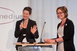 Miriam Janke und Claudia Mikat, medius-Preisverleihung 2014 (c) FSF