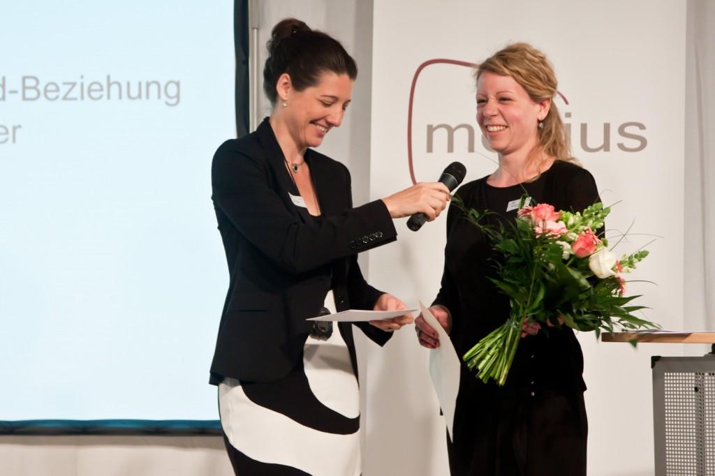 Miriam Janke und medius-Preisträgerin Michaela Hauenschild © FSF