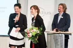 medius-Preisträgerin 2014: Jennifer Schatz, Laudator: Prof. Dr. Roland Rosenstock (c) FSF