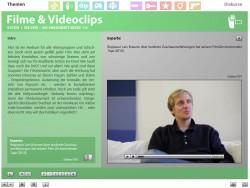 """Screenshot aus der multimedialen DVD-ROM """"Faszination Medien"""", Experte Regisseur Lars Kraume für das Thema Film © FSF"""