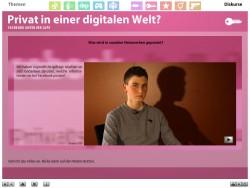 """Screenshot aus der multimedialen DVD-ROM """"Faszination Medien"""", Interview mit Mediennutzern: Was wird in sozialen Netzwerken gepostet? © FSF"""