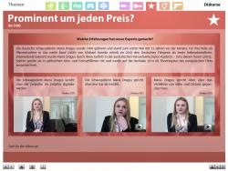 """Screenshot aus der multimedialen DVD-ROM """"Faszination Medien"""", Schauspielerin Maria Dragus über Fankultur, Stars als Vorbild und Nähe und Distanz © FSF"""