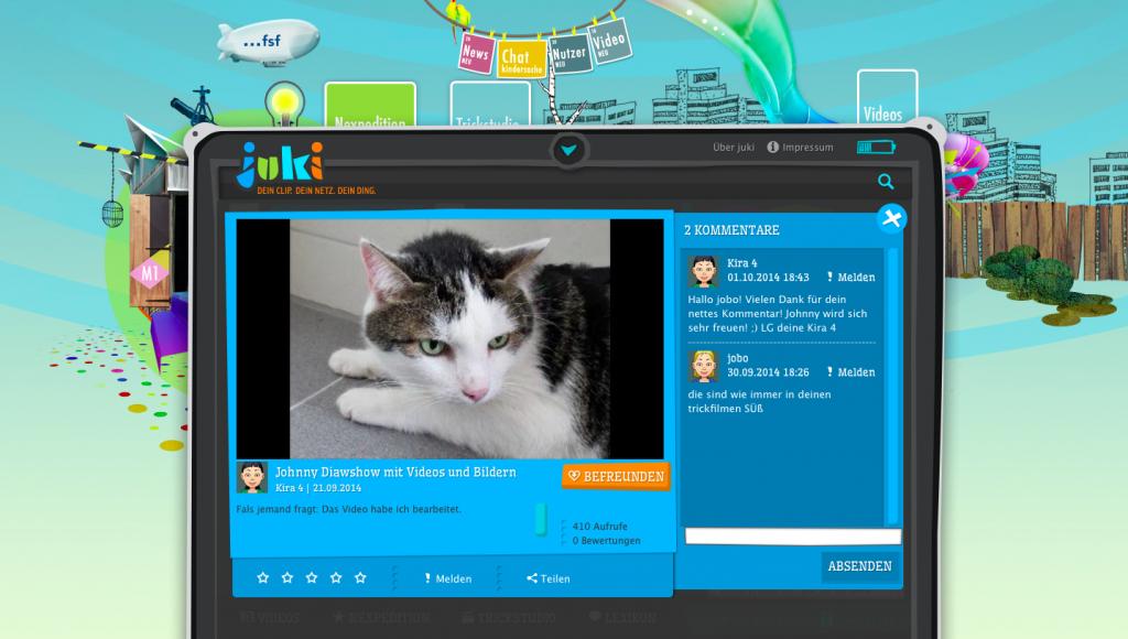 Screenshot Johnnys Diashow mit Videos und Bildern (c) juki.de