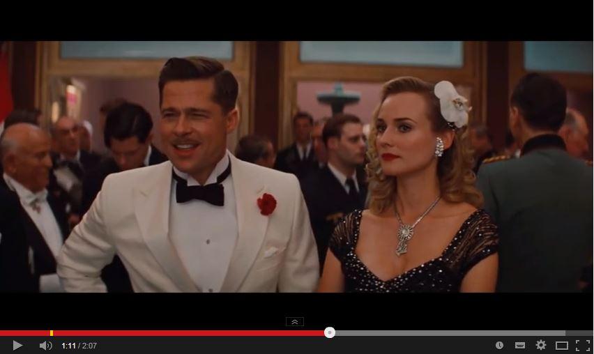 Screenshot Inglorious Basterds - verlinkt mit YouTube-Video zur beschriebenen Szene. Beim Anklicken des Bildes werden Sie auf YouTube weitergeleitet