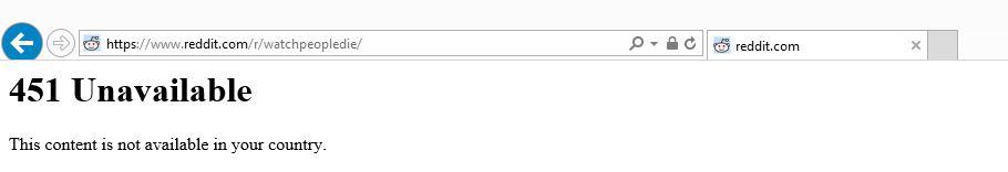 Screenshot der Fehlermeldung: 451 Unavailable