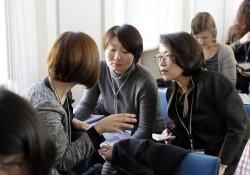 ICC Berlin 2015: l.: Kim Nari (Übersetzerin), re.: Kyong Sook Lee (Korea Media Rating Board, South Korea) © photothek.net/Thomas Koehler