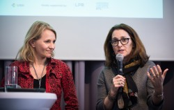 ICC Berlin 2015: v.l.: Anne Mette Thorhauge (Danish Media Council for Children and Young People, Denmark), Patricia Vance (Entertainment Software Rating Board, USA) © photothek.net/Thomas Koehler