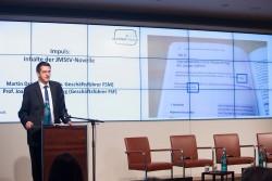 Klickvergrößernd: Martin Drechlsler (FSM): Impuls: Inhalte der JMStV-Novelle auf dem medien impuls von FSM und FSF am 26.11.2015 mit dem Titel: Nach der Reform ist vor der Reform: Bund und Länder streben eine umfassende Reform des Jugendschutzes an – aber welche? © FSF