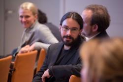 Klickvergrößernd; Rolf Bardeli (Fraunhofer-Institut) auf dem medien impuls von FSM und FSF am 26.11.2015 mit dem Titel: Nach der Reform ist vor der Reform: Bund und Länder streben eine umfassende Reform des Jugendschutzes an – aber welche? © FSF