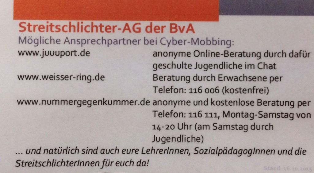 Information über die Streitschlichter-AG © Polina Roggendorf