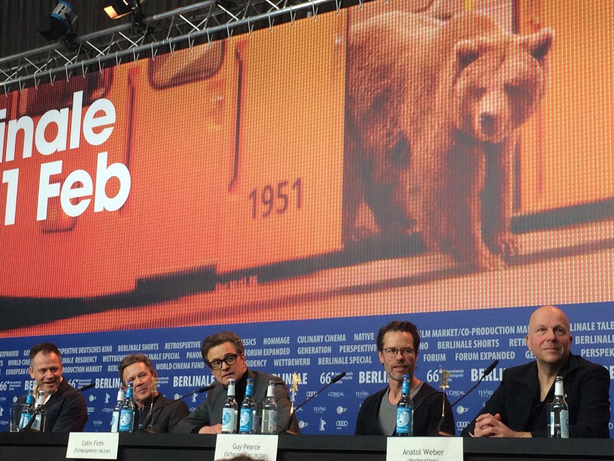 Pressekonferenz zum BERLINALE-Film Genius mit Colin Firth (Mi) © Sonja Hartl