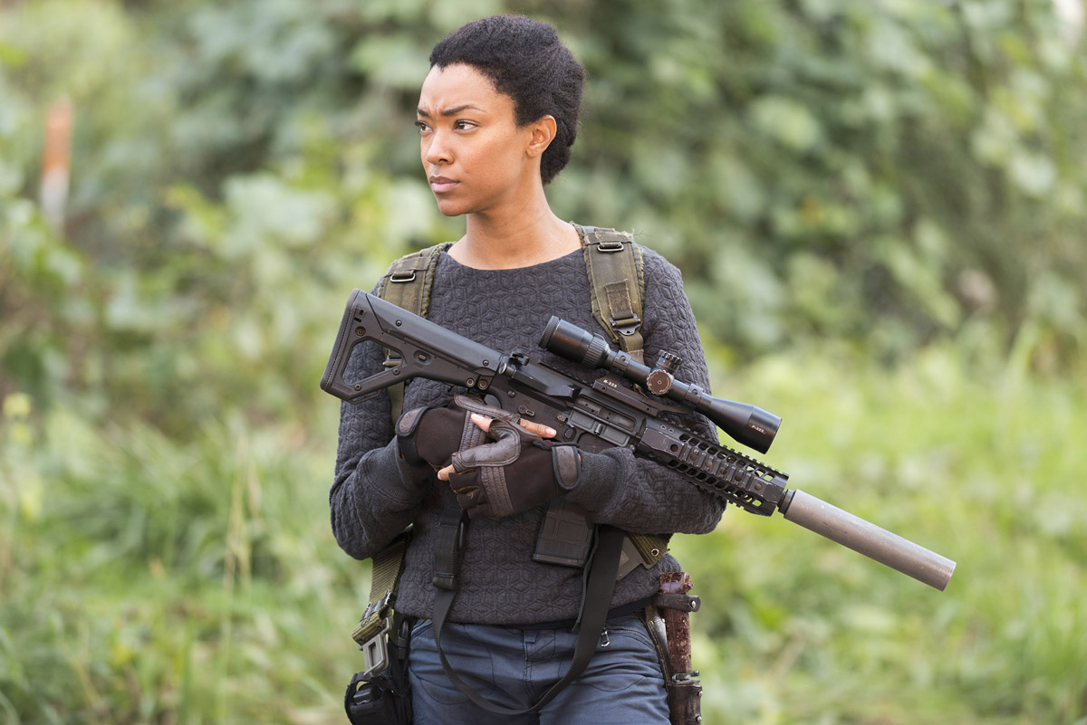 Sonequa Martin-Green als Sasha - The Walking Dead, Season 6, Episode 16 © Gene Page/AMC