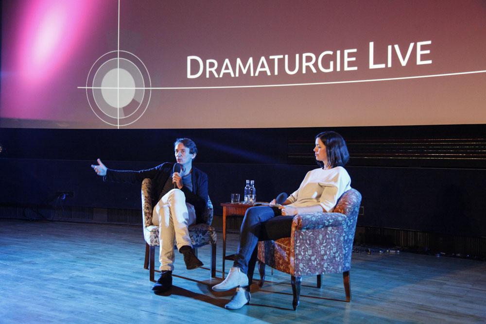 Sehsüchte 2015: Moderatorin Meike Hauck im Gepräch mit Drehbuchautor und Produzent Ralf Husmann © Sehsüchte/Sandra Ratkovic