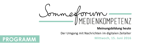 Programm Sommerforum 2016 © FSF