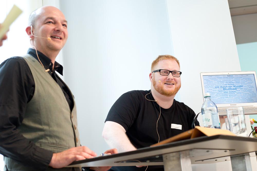 Udo Stiehl und Sebastian Pertsch von Floskelwolke,; Sommerforum Medienkompetenz 2016 © sh/fsf