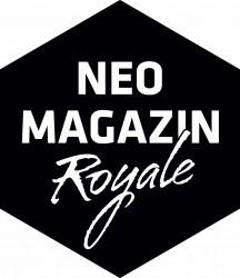 """Logo """"Neo Magazin Royale"""" sw.eps © ZDF/btf"""