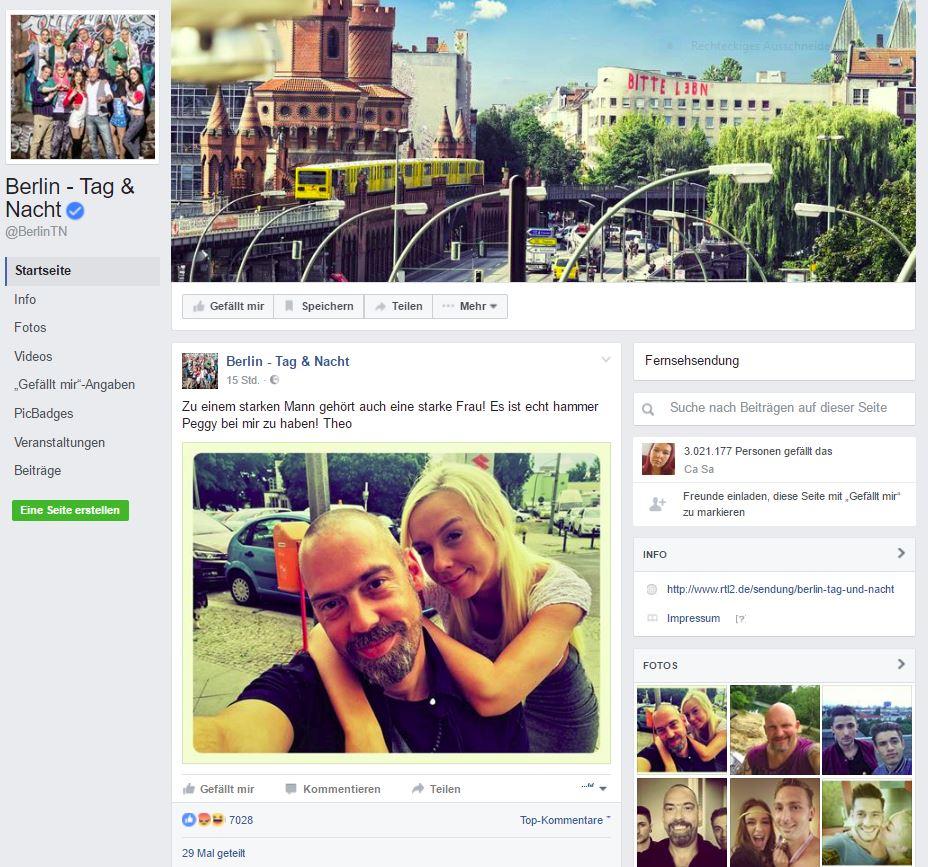 Screenshot Facebookpage Berlin Tag & Nacht (Anklicken des Bildes: Weiterleitung zur offiziellen Facebookseite BTN)