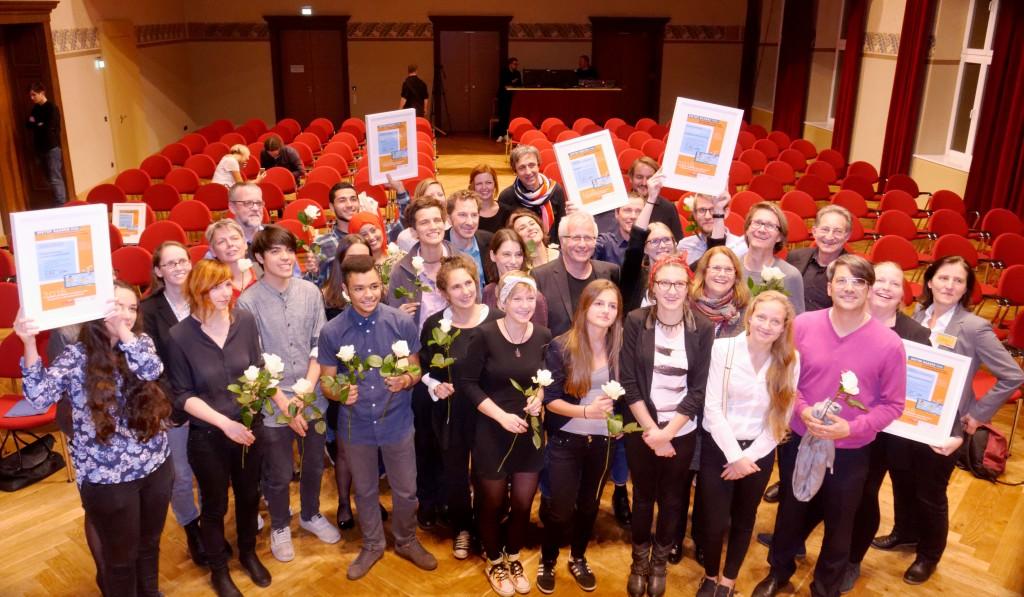 Preisträger und Jurymitglieder des Dieter-Baacke-Preises 2016 © Prof. Dr. Bernward Hoffmann