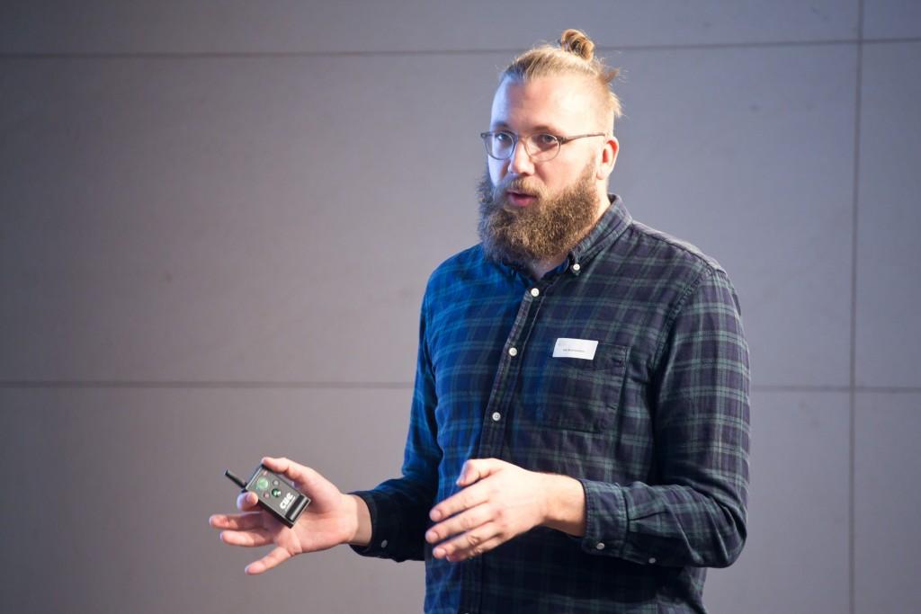 Jan-Keno Janssen (c´t magazin für Computertechnik) auf dem medien impuls zum Thema VIRTUAL REALITY © sh/fsf