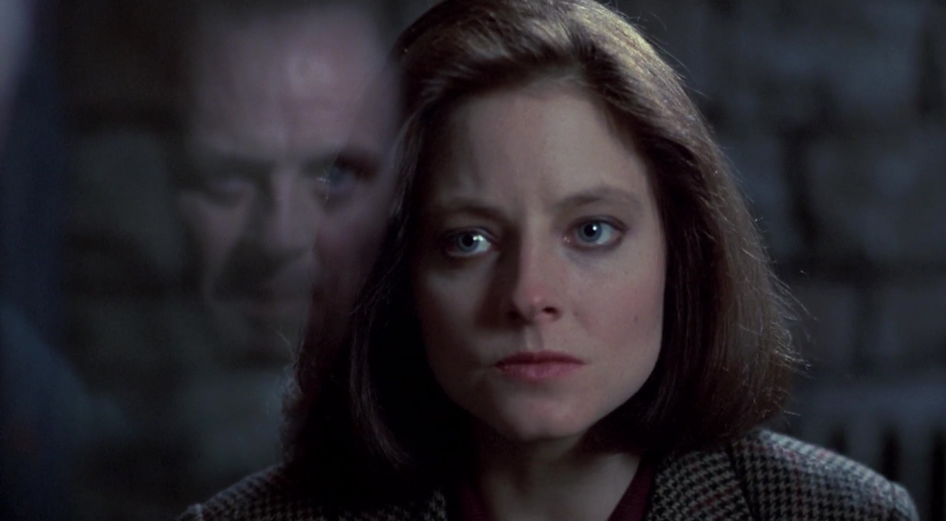 li: Anthony Hopkins als Dr. Hannibal Lecter, re: Jodie Foster als Clarice Starling in The Silence of the Lambs (OT) – dt: Das Schweigen der Lämmer (1991) © Orion Pictures/20th Century Fox  Home Entertainment
