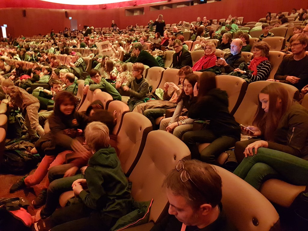 "Ansicht Film bei Berlinale ""Oskars Amerika"" (Sektion Generation Kplus) mit Berliner Grundschulklasse am 15. Februar 2017   Foto © FSF"
