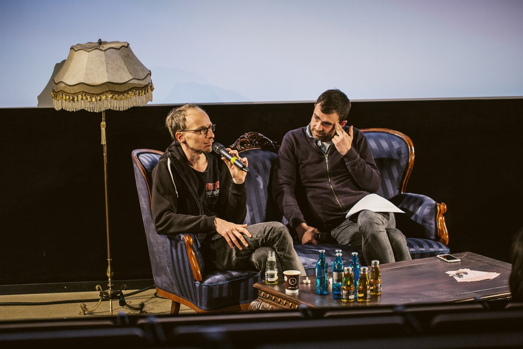 46th Sehsüchte International Student Film Festival: Dramaturgie Live mit Dietrich Brüggemann, 29.04.2017, Filmuniversität Babelsberg KONRAD WOLF © Jonas Friedrich