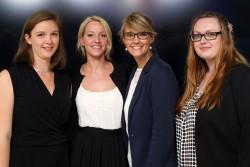 Sophia Horsch, Birgit-Andrea Möller, Rebecca Ebel und Jessika Weigt mit dem medius 2017 ausgezeichnet © sh/FSF