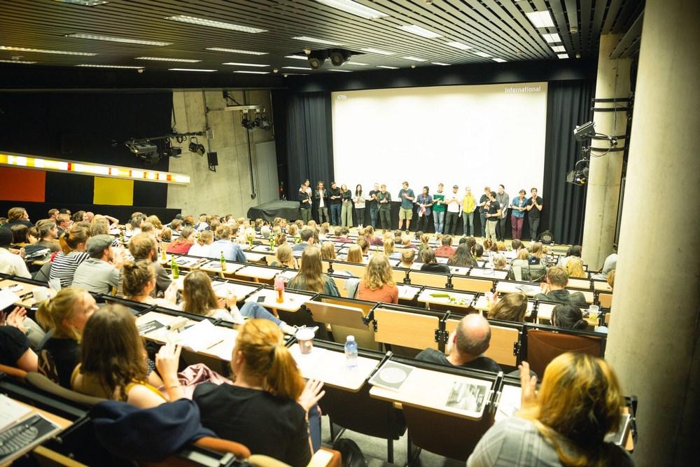 Sehsüchte 2018: Filmemacher auf der Bühne © Frieder Unselt
