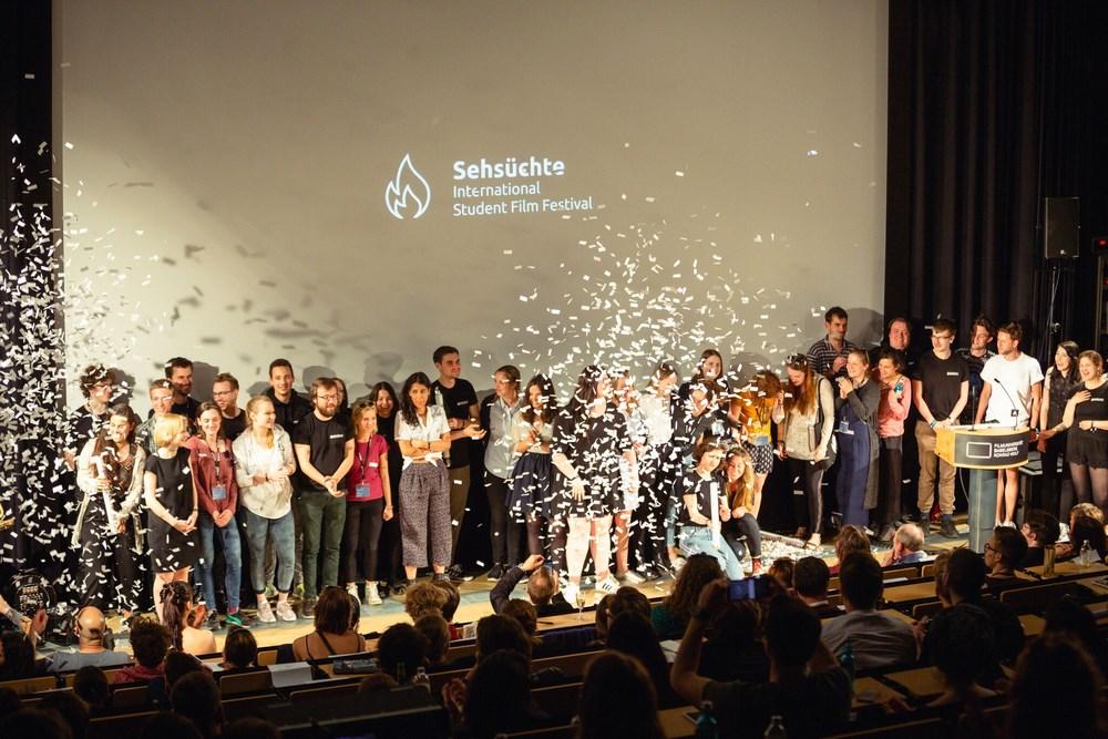 Abschluss Sehsüchte 2018: das Festivalteam © Frieder Unselt