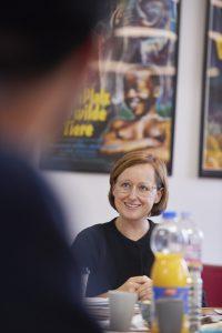 Katharina Pethke im Gespräch mit den Teilnehmern der doku.klasse 2018 © doxs!Katharina Pethke im Gespräch mit den Teilnehmern der doku.klasse 2018 © doxs!
