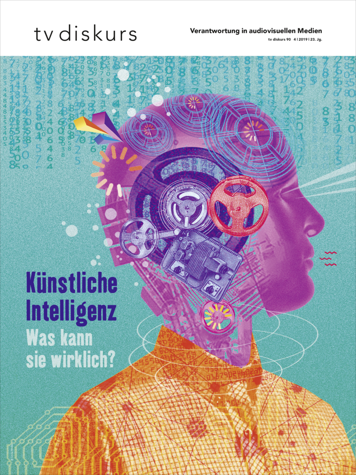tv diskurs 90 Künstliche Intelligenz. Was kann sie wirklich? Illustration: Linda Wölfel © FSF