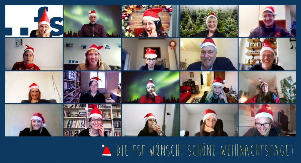 Bildschirmfoto FSF-Team Weihnachtsgruß 2020 © FSF